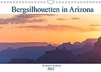 Bergsilhouetten in Arizona (Wandkalender 2022 DIN A4 quer): Abendstimmungen in den Bergen von Arizona und Utah (Monatskalender, 14 Seiten )