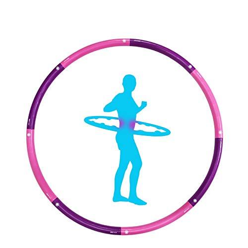 ZEDMA Hula Hoop Hoop Hoop Hoop Hoop für Erwachsene, Weich Tragbar für Fitnessübungen Abnehmbar Hula Hoop für Bauchschenkel Arme und Beine-Pink
