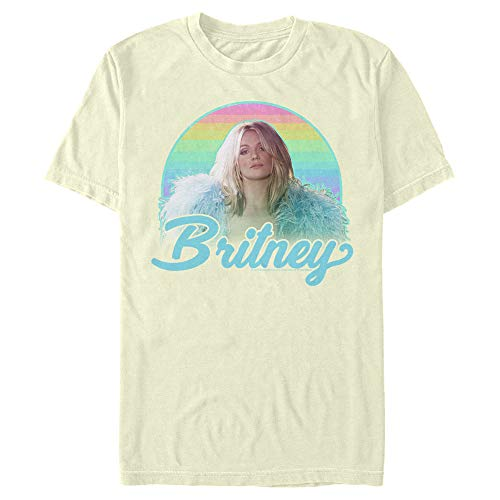 Men's Britney Spears Rainbow Star T-Shirt - Beige - X Large