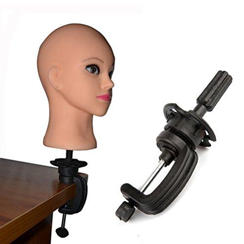 Lurrose Frisierpuppe für Haarkopf/Perücke, kleine Halterung