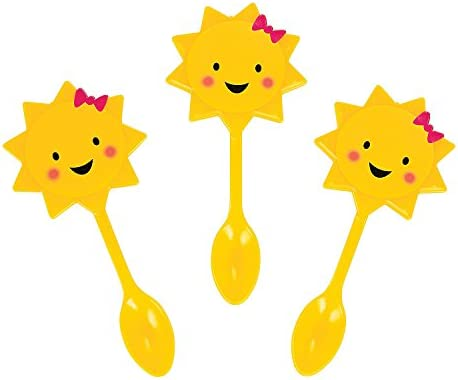 Fun Express You are My Sunshine Spoon Picks 25 pc for Birthday Party Supplies Serveware Barware product image