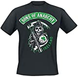 Officially Licensed Merchandise Sons Of Anarchy Ireland T-Shirt (Black), Medium