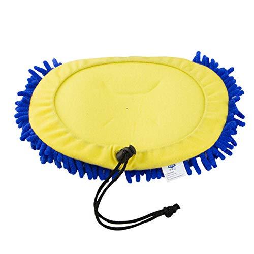 Trapeador de microfibra para lavado de autos 3 en 1 con mango largo con mango extensible,no daña la pintura Herramienta de limpieza de autos sin rayones con ángulo de limpieza de 180 ° para limpiar RV