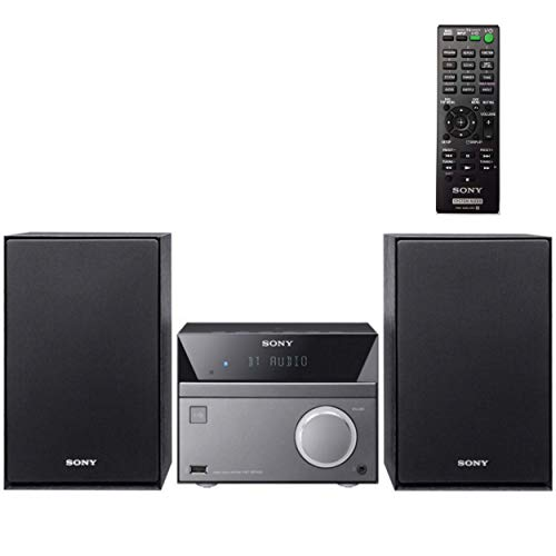 Sony Compact Stereo Sound System for House with Bluetooth Wireless Streaming NFC, Micro Hi-Fi 50W, CD Player with Separate Speakers, FM Radio, Mega Boost, USB Playback and Charge, Remote Control