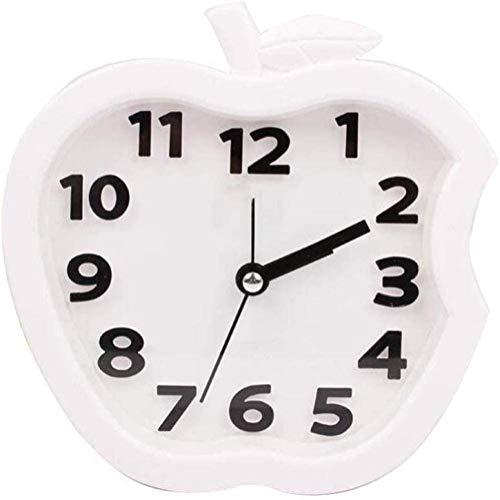 HFFFHA Metal digital de Apple despertador for los niños Viaje habitación silenciosa Snooze Reloj de mesa con luz de fondo, Zona de barrido manos luminosas, escritorio y estantería Reloj En las recámar