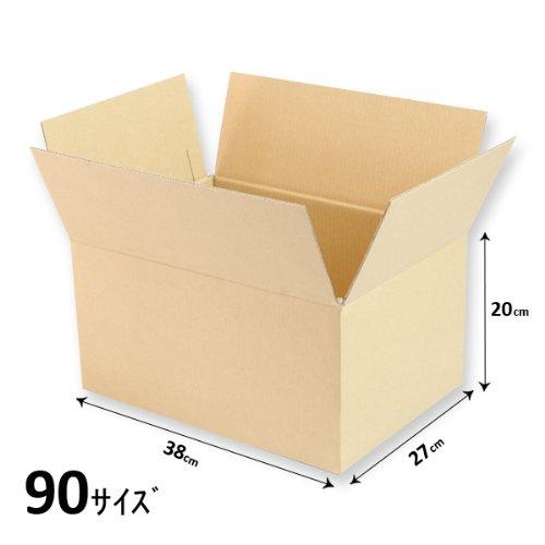 ダンボール 90サイズ L38cm×W27cm×H20cm 5枚セット