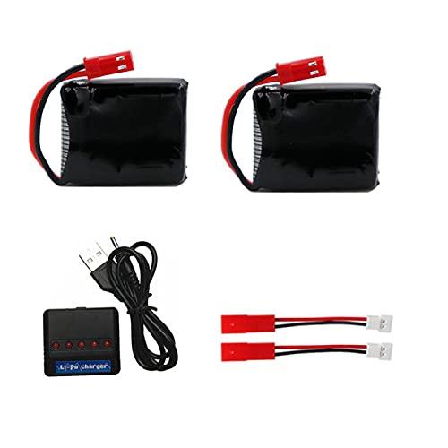 RFGTYH Batería lipo de 3,7 V 650 mah con Cargador para X8TW X8T para TOZO Q1012 Q9 RC Juguetes repuestos batería de Drone 953033 batería de 3,7 V 1S 25C 2BCC