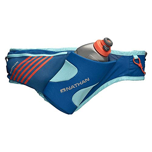 Nathan Running Belt - Peak Waist Pack with Hydration and Phone Storage Pocket. For Running, Hiking, Biking and More. No Bounce Water Bottle Flask (Included)