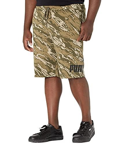 PUMA Short en polaire avec grand logo pour homme, Feuille de raisin - Camouflage, 3XL