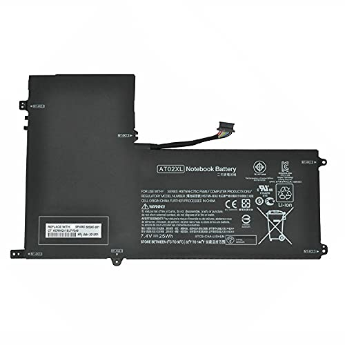 7XINbox AT02XL AT02025XL D7X24PA D3H85UT 99TA026H Laptop Akku Ersatz für HP Elitepad 900 Tisch PC 900 G1 HSTNN-C75C HSTNN-IB3U HSTNN-DB3U HSTNN-QR03 685368-1B1 685368-2B1 685368-1C1 (7,4V 25Wh)
