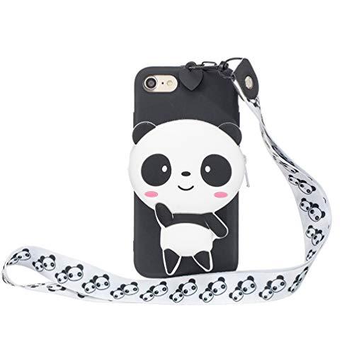 Vogu'SaNa - Cover in Silicone per iPhone 8/iPhone 7, Motivo Animalier, Custodia Protettiva per Ragazza, Cover Morbida in TPU