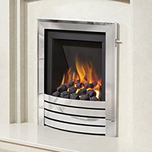 Be Modern Alcazar Slimline Inset Gas Fire Slide Control Chrome Design Trim