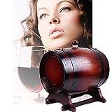 GPWDSN Regalos de barril de whisky, barril de vino de madera de roble vintage, hecho a mano con roble blanco, para barril de envejecimiento de Whisky Puerta de cerveza de barril mini barril de vino (