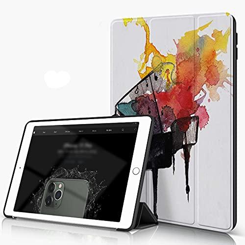 She Charm Carcasa para iPad 10.2 Inch, iPad Air 7.ª Generación,Acuarela Piano Music,Incluye Soporte magnético y Funda para Dormir/Despertar
