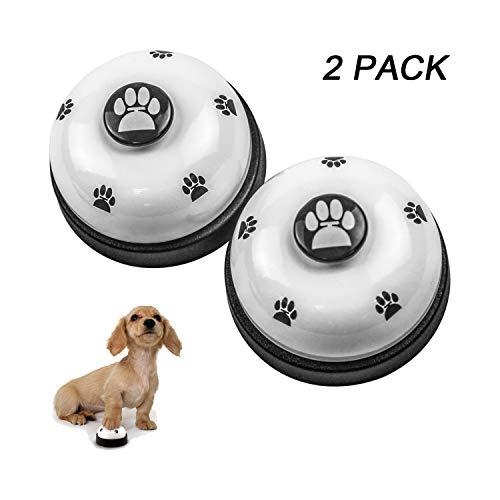 RoyalCare 2 Stück Trainingsglocken für Haustiere, Hund Türklingel für Puppy Toilet Töpfchen Trainings und Kommunikationsgerät (Weiß)