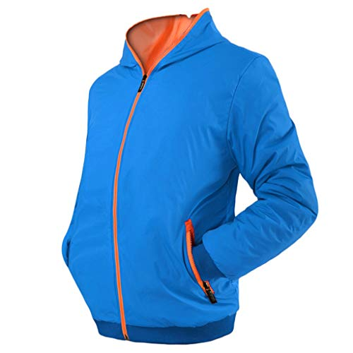 MAYOGO Trainingsjacke Herren Herbst Winterjacke Windbreaker Windjacke Sweatjacke Sportjacke Laufen Trainingsjacke Kapuzenjacke Männer Baumwollmischung Winddicht Jacke, Atmungsaktiv