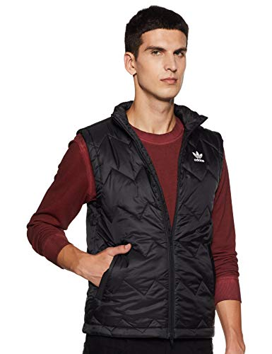 Mens Adidas Originals SST Puffy Vest in Black.