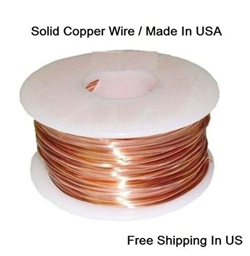 18 Ga Copper Wire -Dead Soft-100 Ft -1/2 Lb. Spool