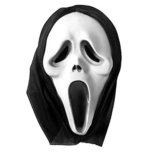 HALLOWEEN SCREAM Maske Verkleidung mit Kapuze