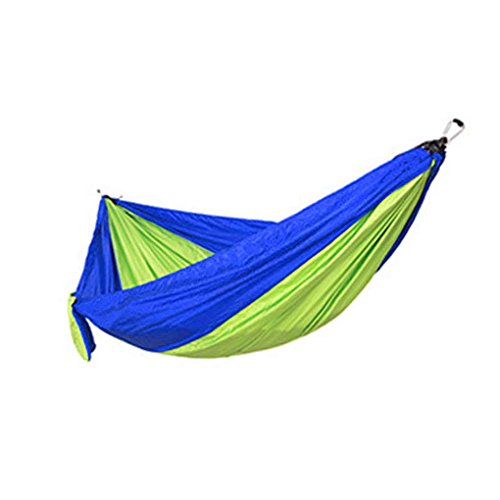 Qinghengyong Single Double Person Hammock Parachute Fabric Sleeping Bed Camping Hanging Sleeping Bed Outdoor Camping Swing Ch 260 * 140/230 * 90