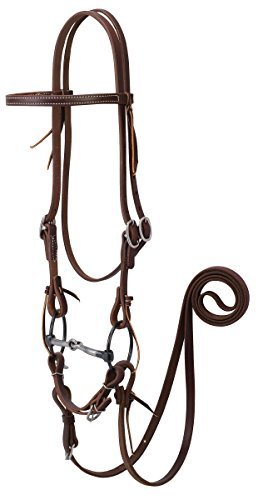 Weaver Leather Working Tack Bridle with Ring Snaffle Mouth Bit