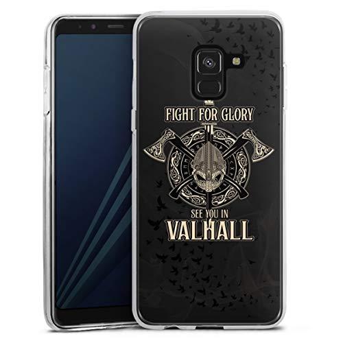 DeinDesign Silikon Hülle kompatibel mit Samsung Galaxy A8 Duos 2018 Hülle transparent Handyhülle Wikinger Vikings Serienmotiv