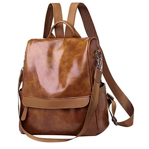 i-uend Laptop-Einkaufstasche für Damen, wasserdichte leichte Lederrucksack Computer Laptop-Tasche Damen große Reise-Umhängetasche