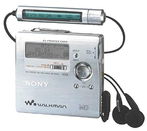 Sony MZ-R909 - Reproductor MiniDisc Walkman (función de grabación), Color Plateado