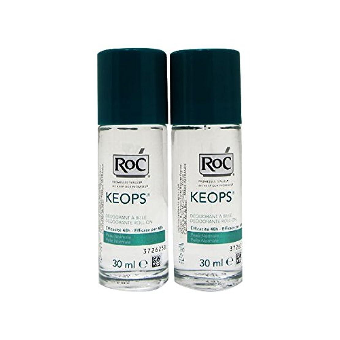 ジョガーテーブルツーリストRoc Pack Keops Deodorant Roll On Intense Sweating 2x30ml [並行輸入品]