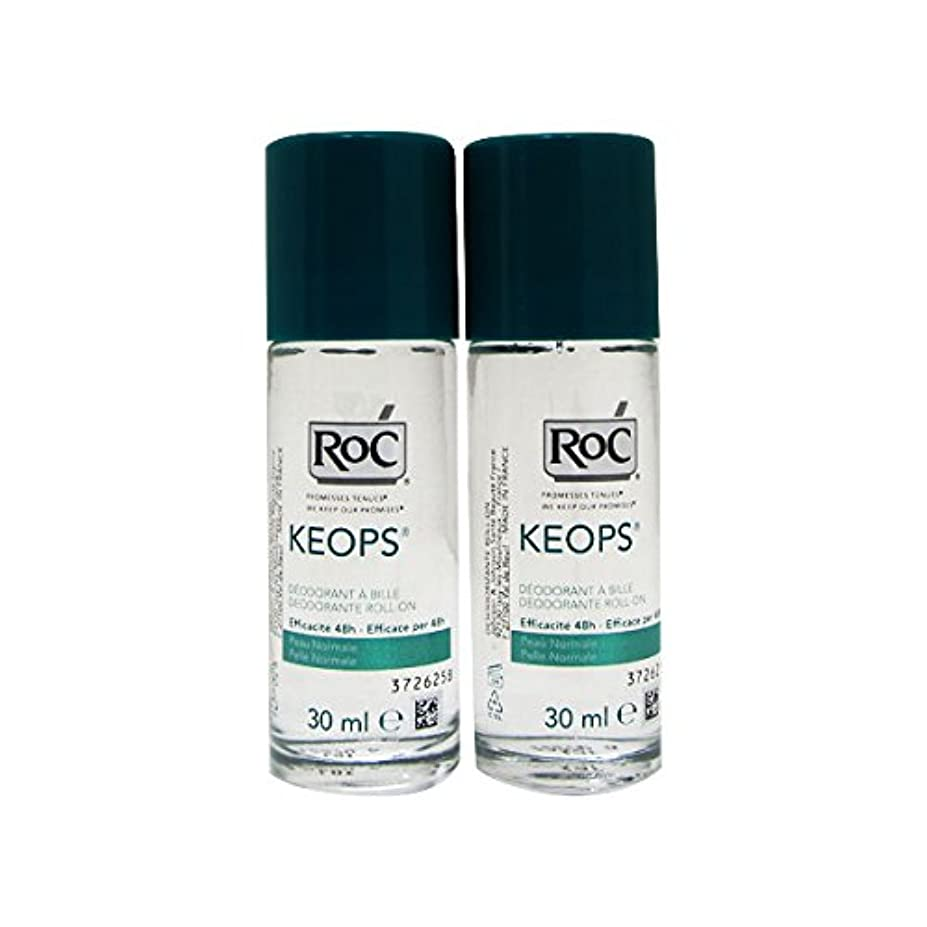 現代の好き緊張Roc Pack Keops Deodorant Roll On Intense Sweating 2x30ml [並行輸入品]