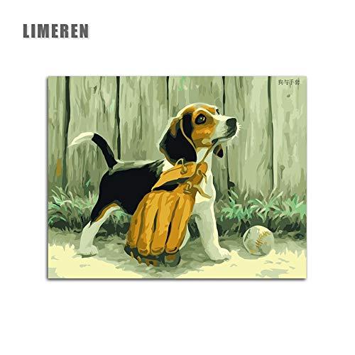 tzxdbh Frameloze muurdacrylschilderij van de puppierafbeelding door cijfers, het door getal schilt uniek geschenk door cijfers, het door getal FärBT60X106