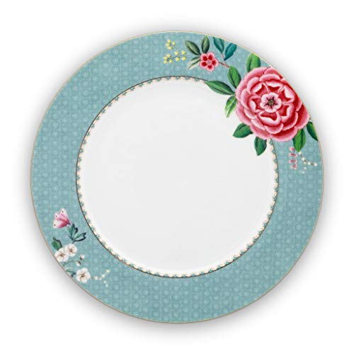 Pip Studio Assiette plate Blushing Birds - Bleu - 26,5 cm