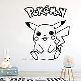Bande dessinée Pokemon Monstre Pikachu Wall Sticker Décor À La Maison Décoration Pépinière Enfants Chambre Pour Chambre Mur Décor 43 * 52 CM