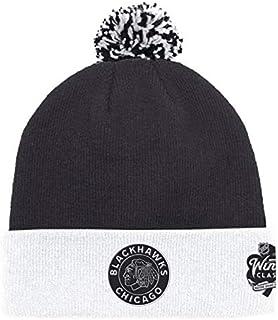 adidas Chicago Blackhawks 2019 Winter Classic Cuffed Pom Knit Hat 03693e03f