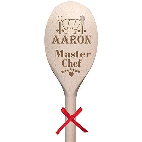 Mirrors-Interiors Personalised Present * Birthday Wooden Spoon 'Master Chef' Keepsake