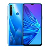 realme 5 smartphone 6.5 ips, 4 gb ram / 128 gb rom, processore octa-core, camera 13 mp, quad-camera 12/8/2/2 mp, blu