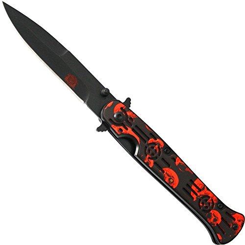 Haller 84735 Stiletto Taschenmesser orange Messer, Schwarz