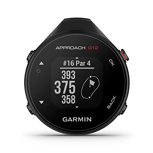 Garmin Approach G12, Clip-on Golf GPS Rangefinder, 42k+ Preloaded Courses, 010-02555-00