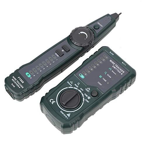 herramienta de prueba de cables Kit de rastreador de cables Probador de cables de red Probador de cables Conector RJ45 Ingeniero de mantenimiento de redes para ingenieros de