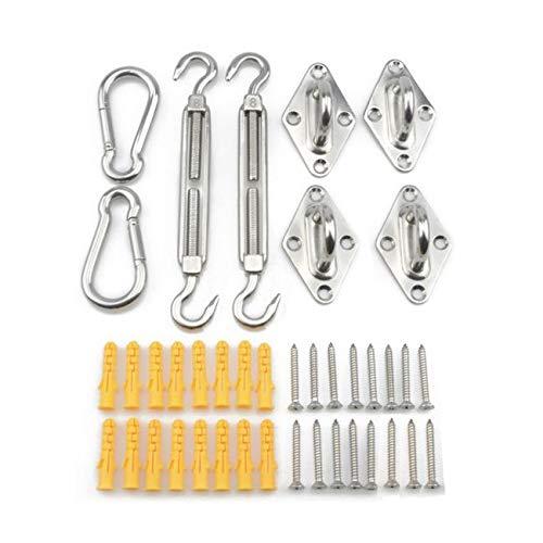 Labewin - Kit di fissaggio a vela, 40 pezzi, per triangolari e quadrati, in acciaio inox 304, con pratico kit di accessori per fissaggio a vela