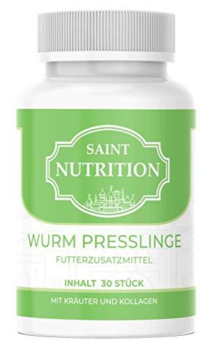 Saint Nutrition NEU Entwurmungs Presslinge - Kur für Tiere wie Katzen, Hunde, Kaninchen und Geflügel - vor, während und nach Befall - natürliches Mittel für Magen & Darm bei WURMBEFALL