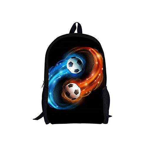 EASYANT Coole Fußball Muster Kinder Buch Rucksack Jungen Fußball 3D Druck Tasche