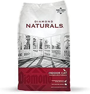 Diamond Pet Foods INDCAT18 Naturals Dry Food for Adult Cats, Indoor Hairball Control Chicken Formula, 18 Pound Bag