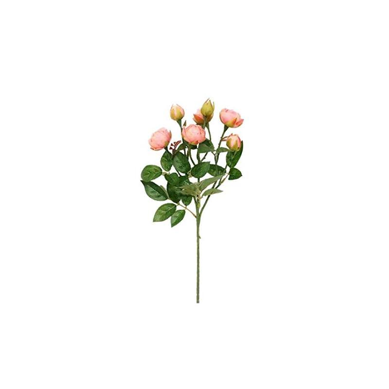 silk flower arrangements sweet home deco 19'' silk peony buds single spray, artificial baby peonies, craft flowers, wedding/home decorations, set of 3 (pink)