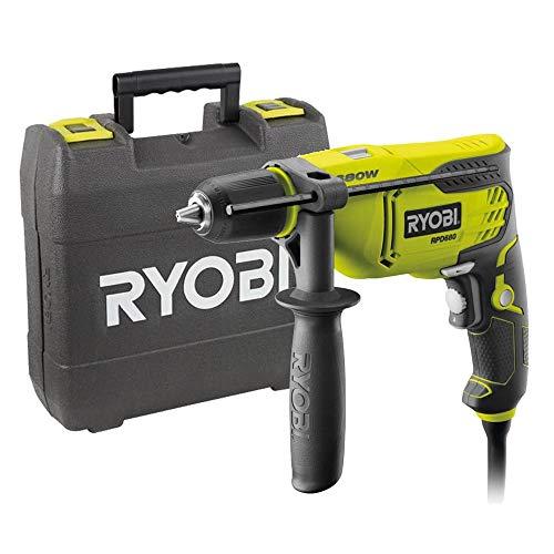 Ryobi 5133002016 Taladro de percusión cable eléctrico 650 W llave de mandril, 680 W