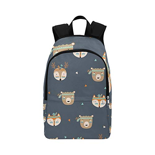 ZXWXNLA Cute Daypack Cute Tribal Popular Animals for Children Durable Water Resistant Classic Man Toiletry Travel Bag Best Hiking Bag College Lunch Bag Casual Bags for Kids
