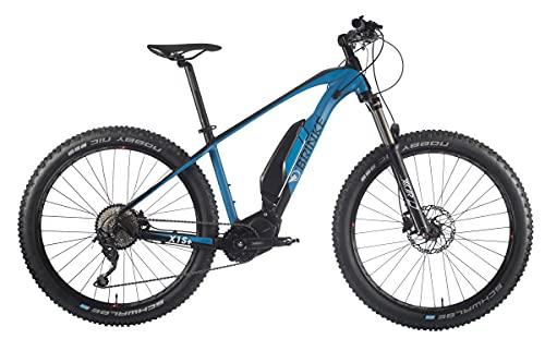 Brinke Bicicletta Elettrica E-Bike X1S+ Motore Shimano E7000 Batteria 500Wh - Taglia 50 M - Nero E Blu