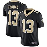 LAVATA T-Shirt Manches Courtes Homme Uniforme De Football New Orleans Saints 13# Michael Thomas Maillots Uniformes De Rugby T-Shirts
