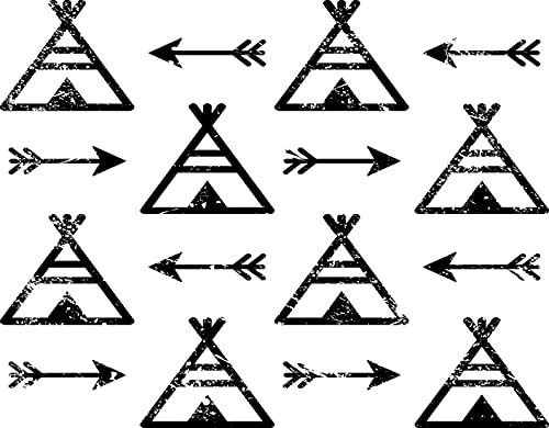 TISAGUER 5D Diamante Pintura por Número Kit,Tipis y flechas Azteca Indio Repetitivo Nativo americano Apache Tribal,Bricolaje Diamond Painting kit completo Bordado Decoración del hogar