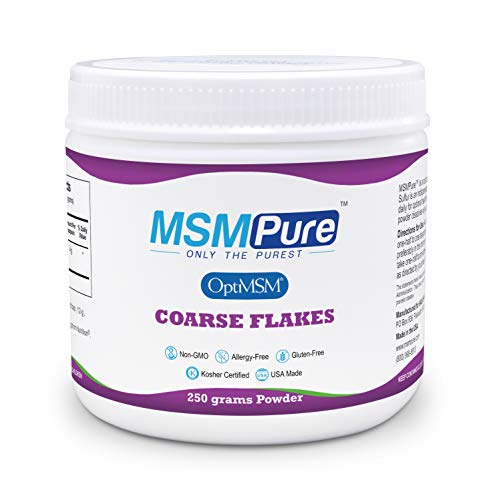 Kala Health MSMPure Coarse Powder Flakes, Organic Sulfur Crystals, 99.9% Pure Distilled MSM Supplement, Made in The USA, 8.8 oz